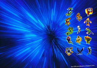 Ben 10 Ten desktop Wallpapers Alien Monsters in Blue Vortex desktop wallpaper