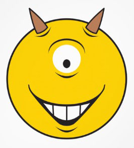 Funny+Pictures+of+Smiley+Faces+with+single+eye+and+horn.jpg