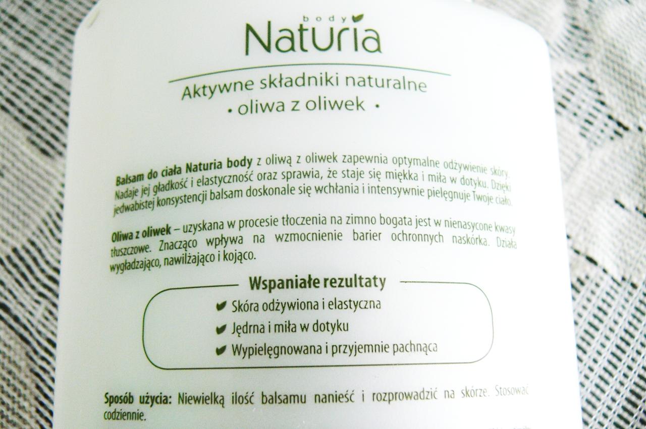 Joanna, Naturia Body, Odżywczy balsam do ciała z oliwą z oliwek obietnica