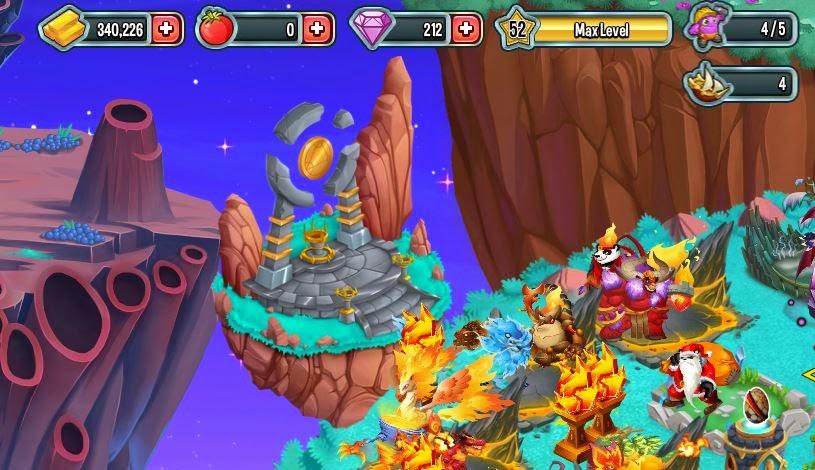 imagen de la actualizacion del edificio de runas de mosnter legends