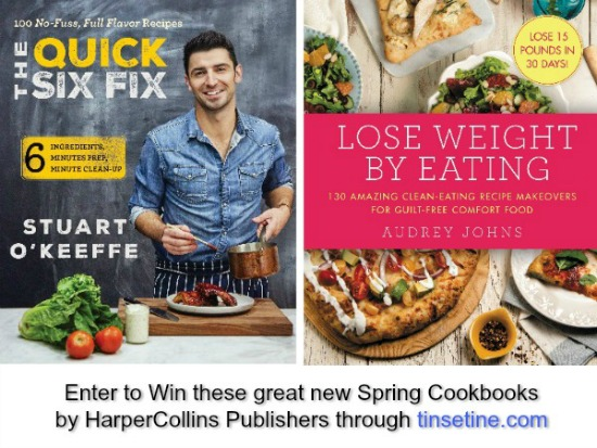 WIN ONE OF THESE 2 NEW SPRING COOKBOOKS!