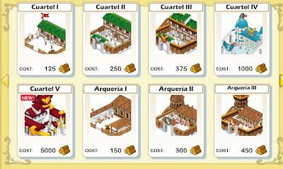 imagen de los cuarteles y arquerias de soial empires