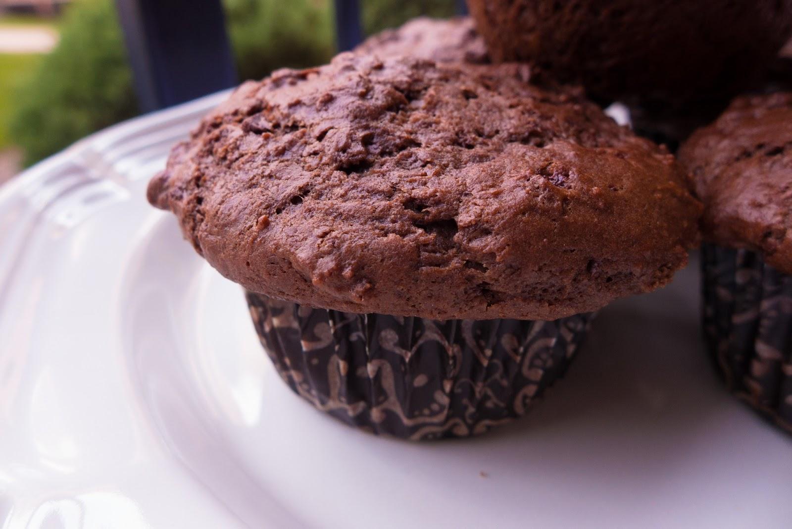 Dark Chocolate Black Cherry Muffins (adapted from Dorie Greenspan ...