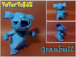 Pokemon, Granbull Papercraft Free