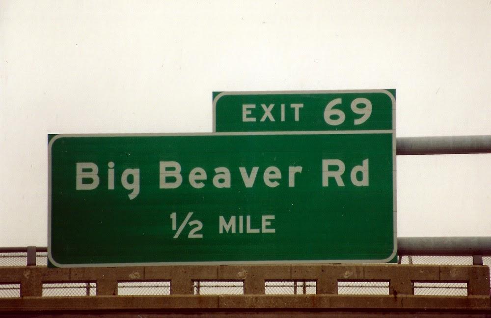 Exit 69 Big Beaver Road