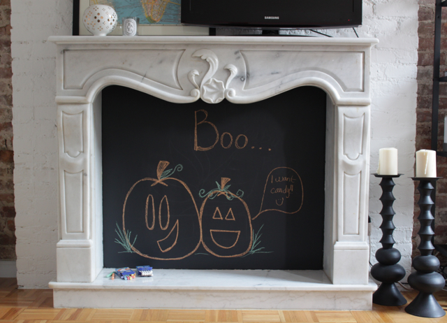 DIY Chalkboard Fireplace - Cheetah is the New Black : Cheetah is ...