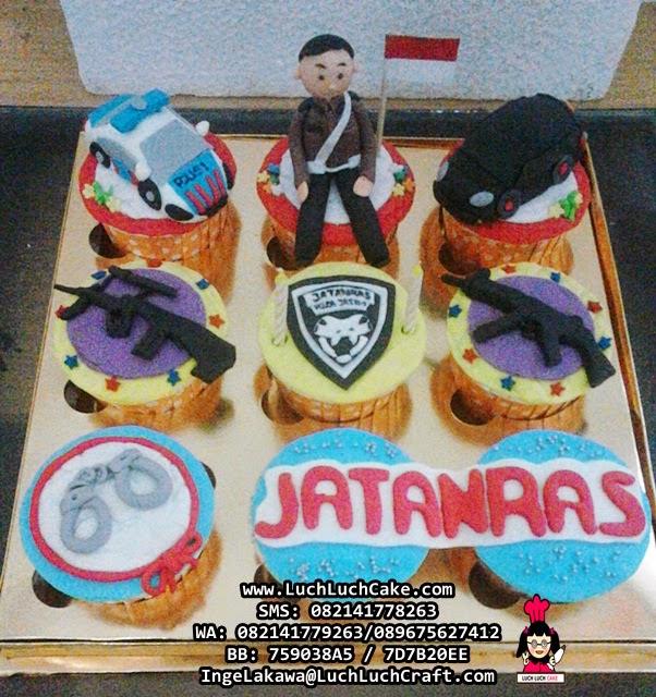 Cupcake Tema Polisi Daerah Surabaya - Sidoarjo