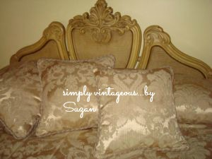 headboard, before, after, ascp, paris grey, vintage, french provincial, ornate
