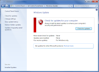 run windows update in windows 7
