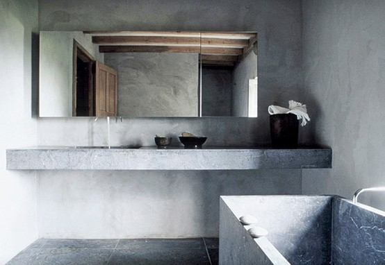 To da loos concrete in the bathroom it s not just for for Concrete bathroom ideas