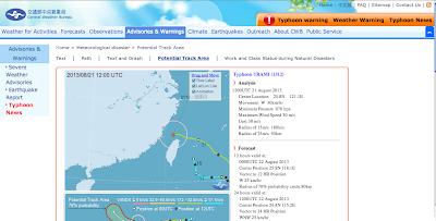 Taiwan Typhoon Path Forecast