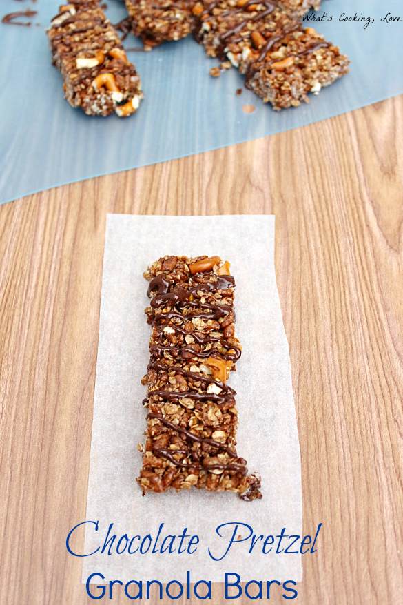 Chocolate Pretzel Granola Bars