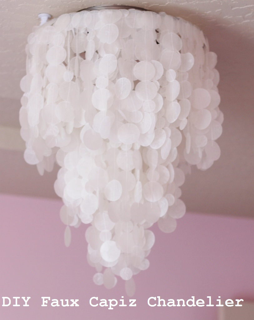 Making house a home diy faux capiz shell chandelier diy faux capiz shell chandelier aloadofball Choice Image