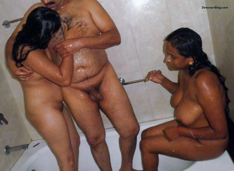 Desi threesome sex