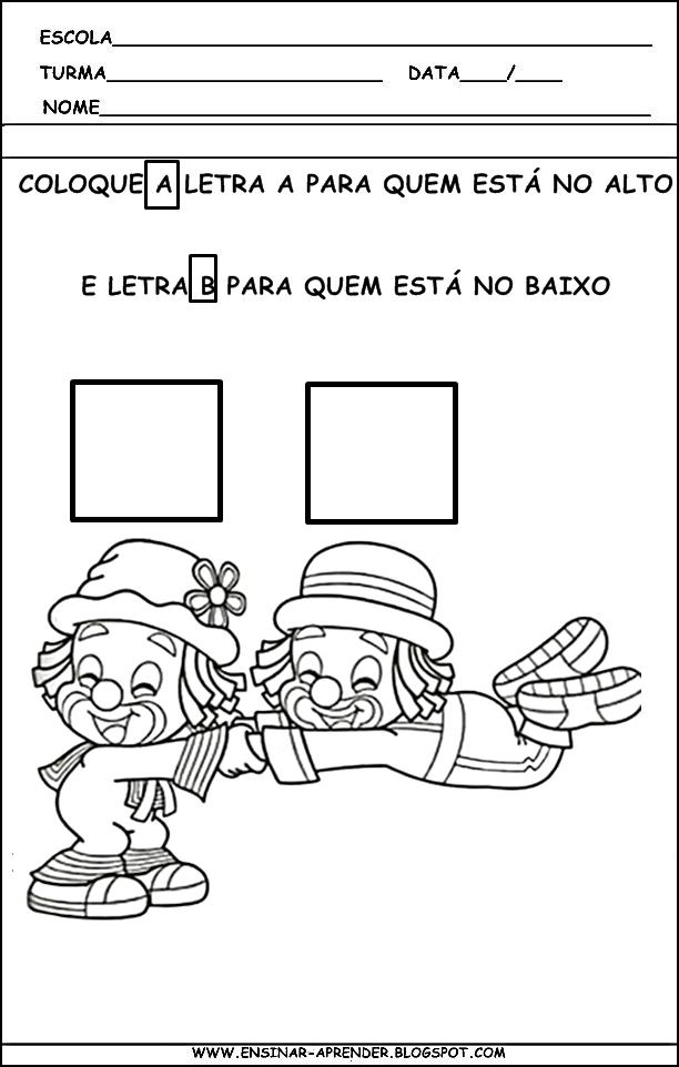 Muito Atividades e desenhos Dia do Circo - Atividades Pedagógicas JC01