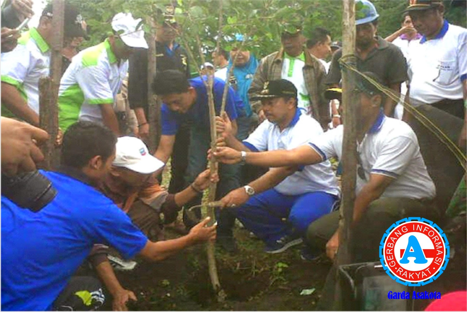 Walikota Tanam Pohon Bersama Jajaran Kantor Kecamatan Asakota