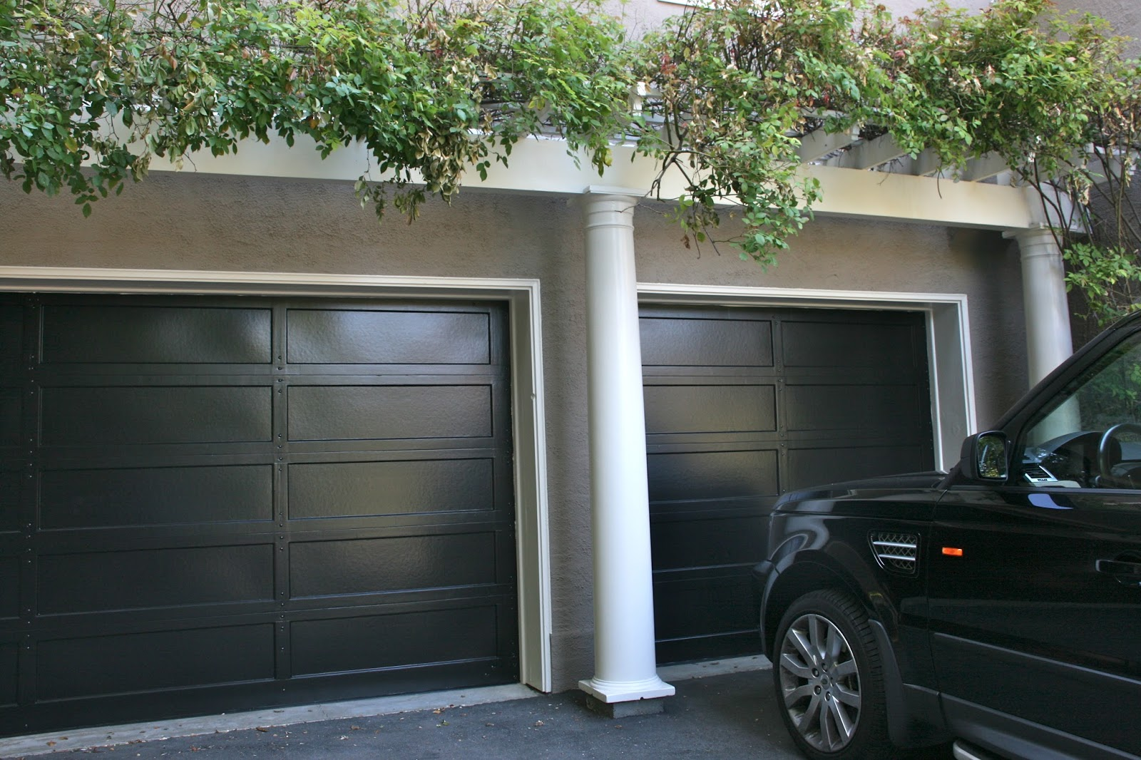 1066 #637D4E Vignette Design: A Whole New Look For A Grand Old Lady save image Dark Garage Doors 36571600