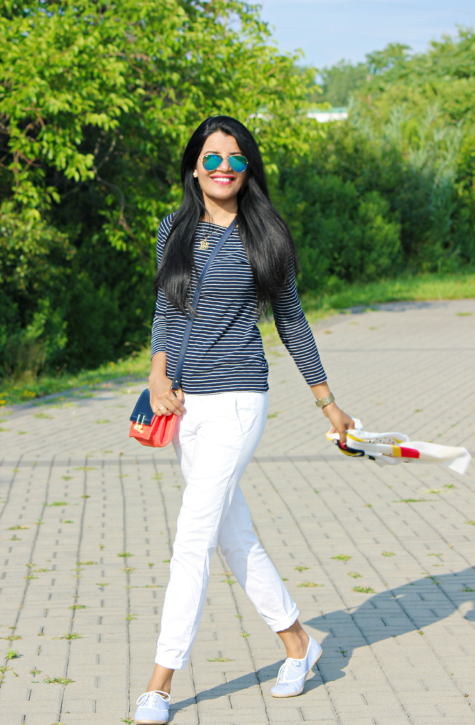 How to style a white jeans, JCrew Andie Chino Fit, July 4th Outfit Ideas,