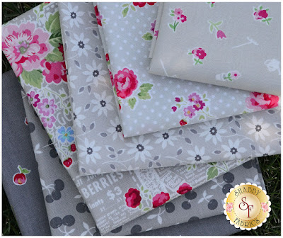 Fog FQ Set- Lake City Kitty | Shabby Fabrics
