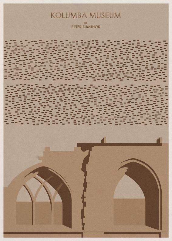 Kolumba Museum - Peter Zumthor - Posters de Arquitectura Minimalistas de André Chiote