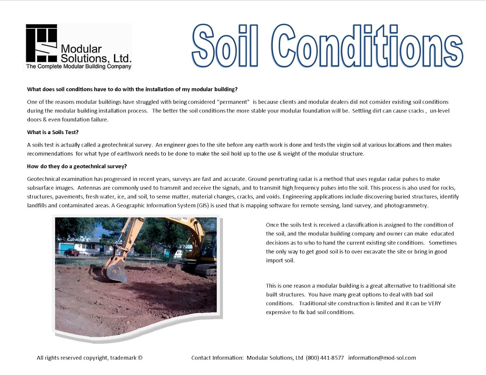 Modular solutions ltd the experts on prefabricated for Where do we find soil