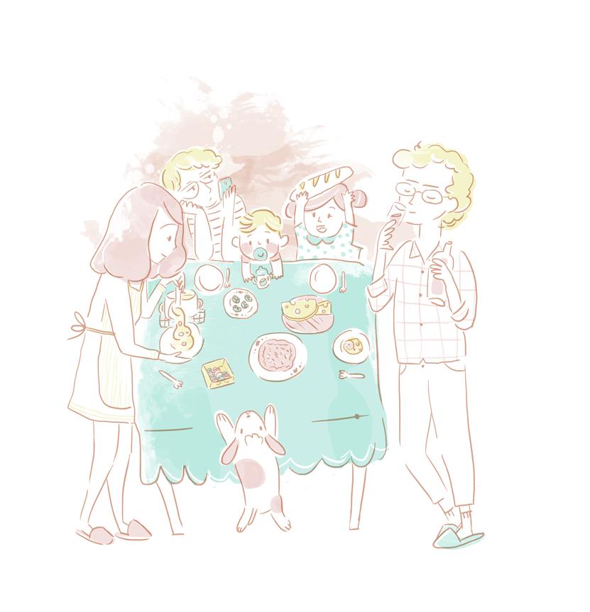 family, familia, illustration, ilustración, children's illustration