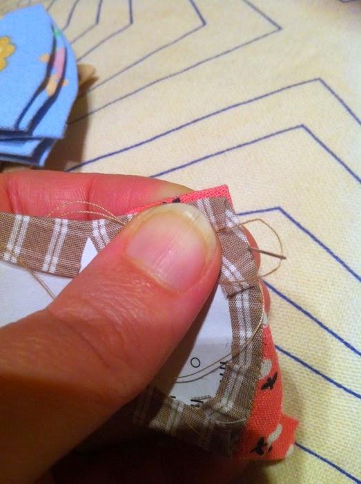 English paper piecing naaien