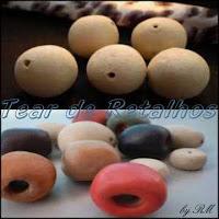 Esferas de argila para uso em artesanato