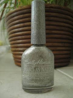 Sally Hansen silver glitter polish