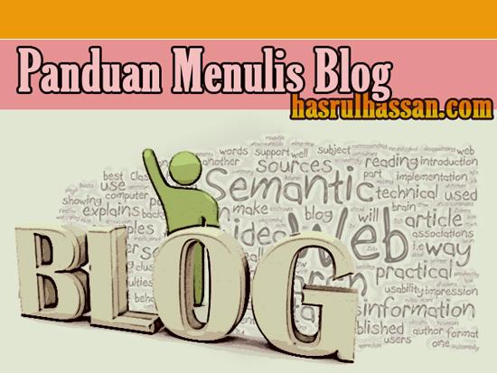 Panduan menulis blog OHBlogger Blogspot Malaysia