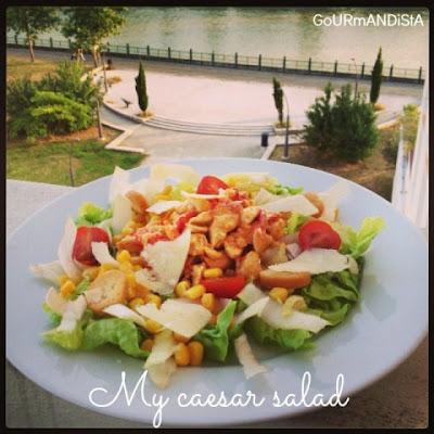 image 1 JOUR = 1 SALADE ** : My caesar salad