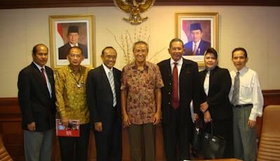 Sosialisasi Penerapan Kriteria Kinerja Ekselen dan Pelaksaan Indonesian Quality Award 2008 di Kantor MENRISTEK pada tanggal 20 Februari 2009