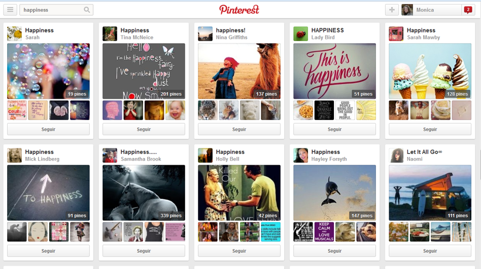 Pinterest tablero happiness