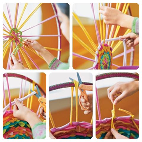Actividades escolares ideas para hacer con retazos de telas - Como hacer alfombras de nudos ...