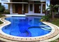 kolam renang minimalis rumahan