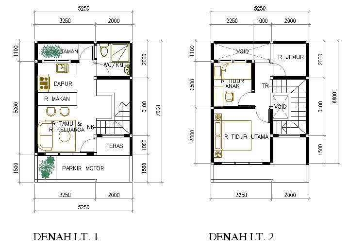 Gambar Denah Rumah Minimalis 1 Lantai Desain 2015