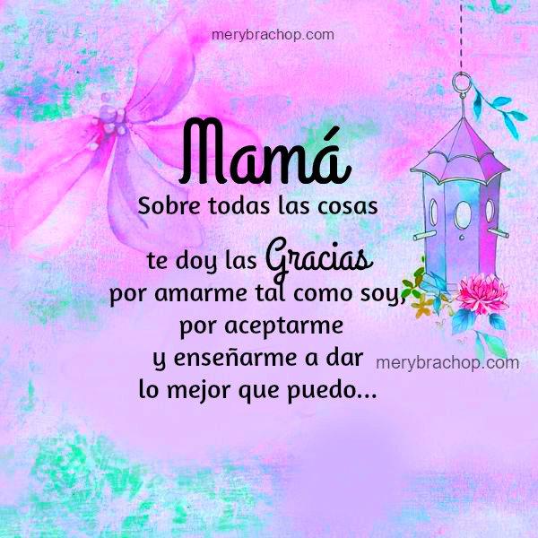 frases palabras agradecimiento mama