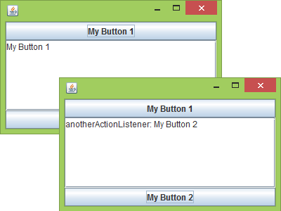 Example of using ActionListener
