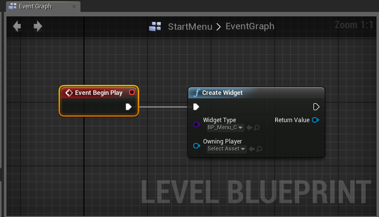 I dont know udk unreal engine 4 blender and substance designer in the create widget node drag a wire from the return value pin and in the context menu choose the add to viewport node malvernweather Choice Image