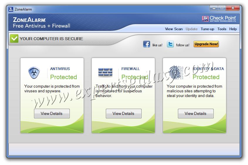 zonealarm free antivirus update error