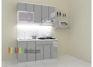 Kitchenset Pelangi Desain Interior Kitchen Set Abu Abu