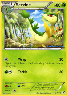 Servine #3/114 Black and White Pokemon Card