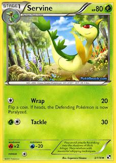 Servine #3/114 Black and White Pokemon Card