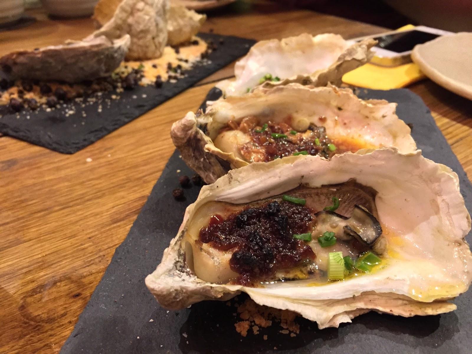 FYR Cycene Ond Drinc - Baked Freshly Shucked Oysters