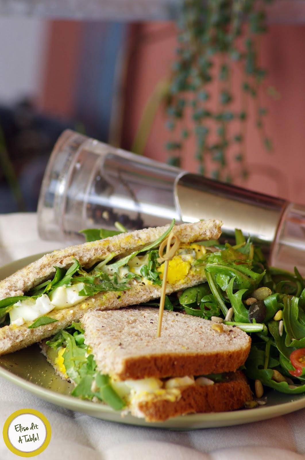 recette Sandwich aux oeufs durs