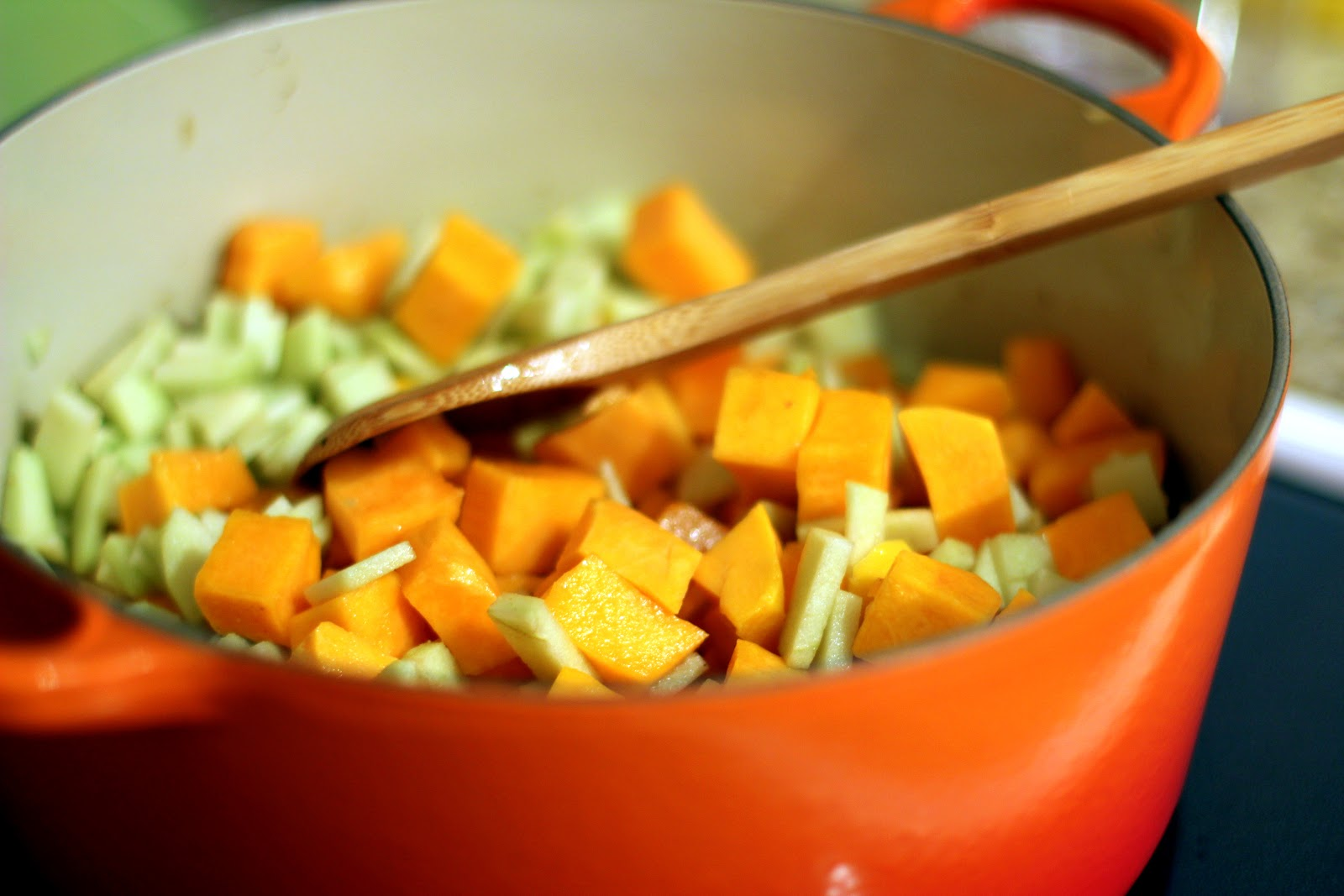 Butternut Squash Soup Ina Garten shared bites: butternut squash & apple soup
