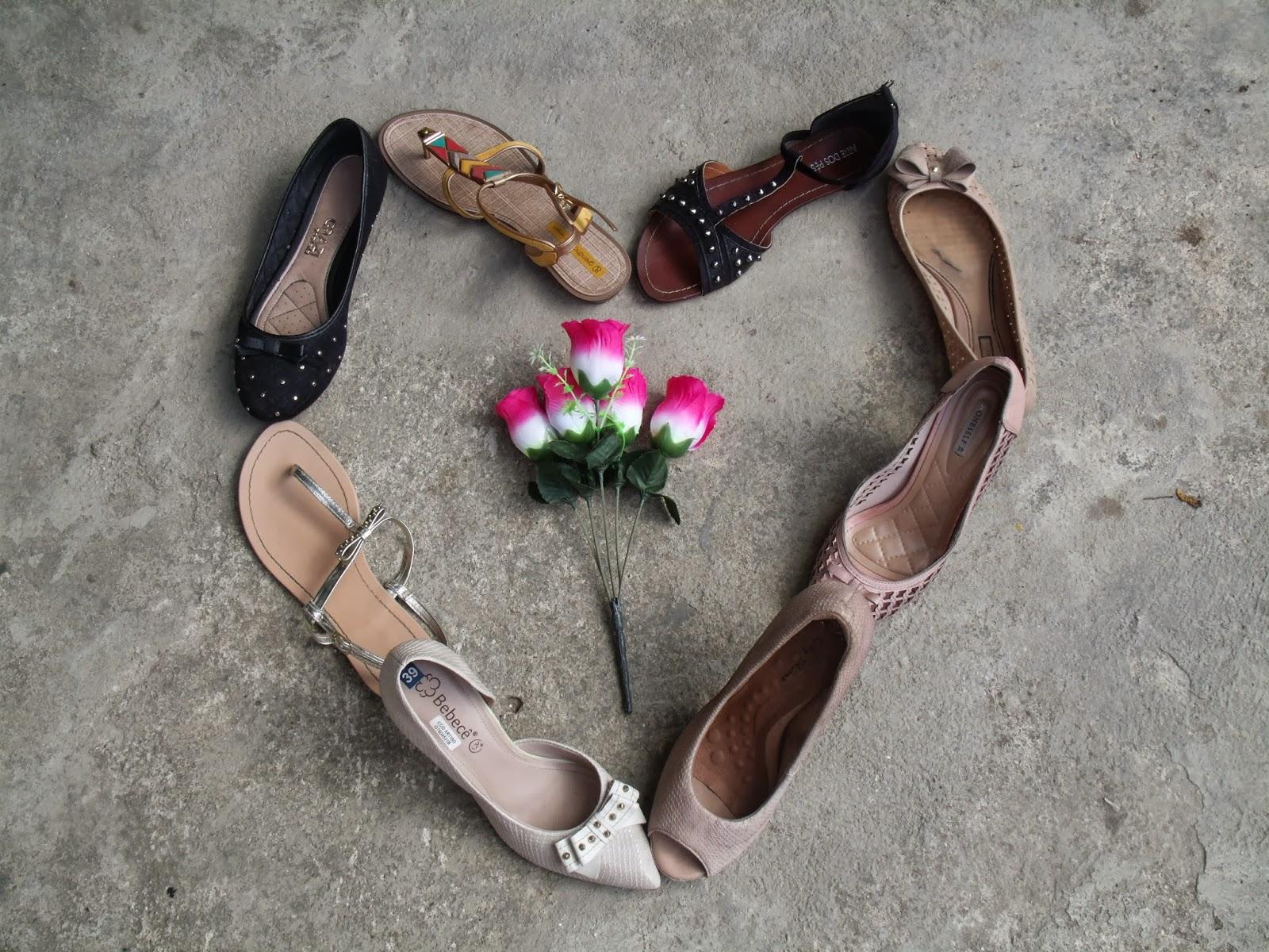 Coração de sapatos