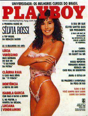 Silvia Rossi nua na Playboy