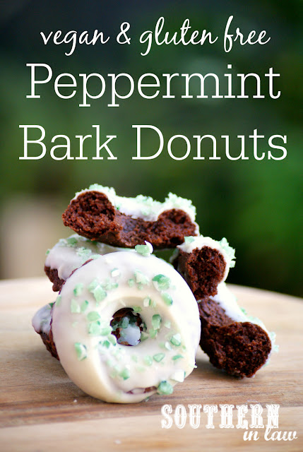 Healthy Vegan Peppermint Bark Donuts Recipe - healthy, low fat, low sugar, gluten free, dairy free, egg free, vegan