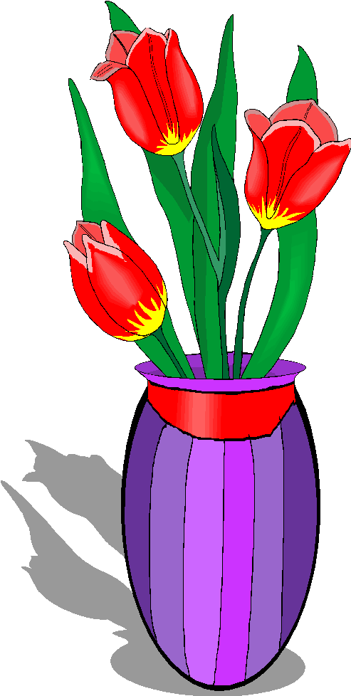 Flowers in Vase Free Clipart